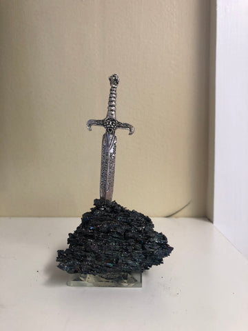 Excalibur on Chrysocolla Base