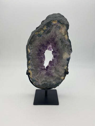 Amethyst Geode on iron stand