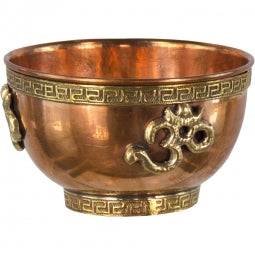 Copper Offering Bowl: Om