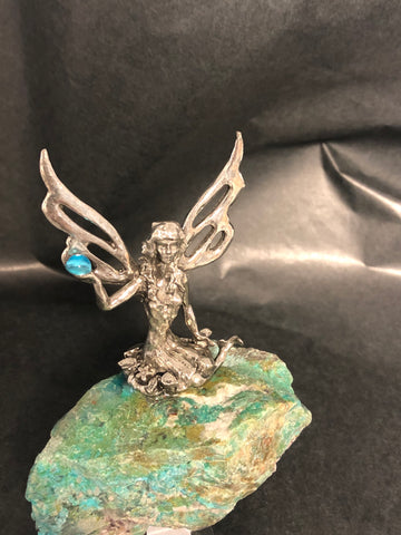 Fairy on Chrysocolla