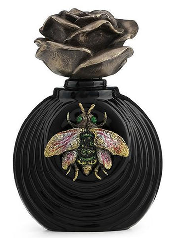 Steampunk Bee Perfume Bottle with Rose Lid