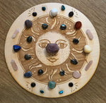 SUN MOON PHASE CRYSTAL GRID - SUN CRYSTAL GRID