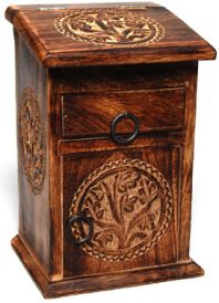 Tall Tree of Life Herb Box with Drawer