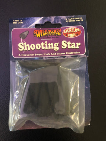 WildBerry Shooting Star Backflow Incense Cones
