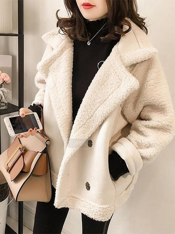 Fake mouton boa blouson jacket coat