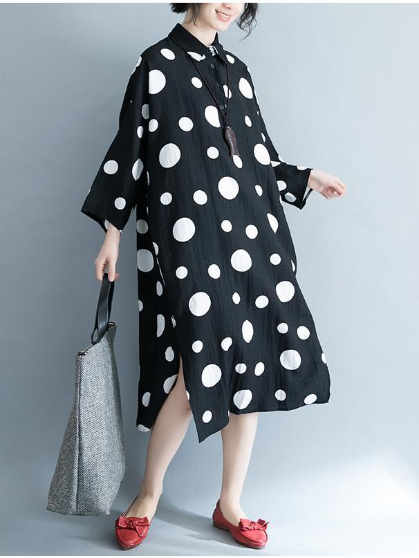 Super Casual Polka-dot Printed Long Dress