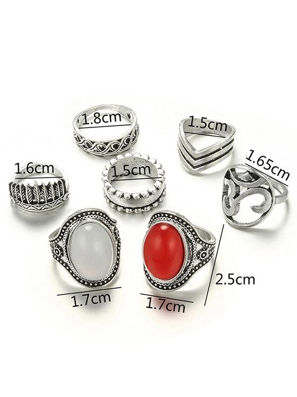 7pcs Vintage Rings Accessories