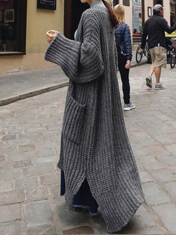 Super Loose Knitting Long Outwear