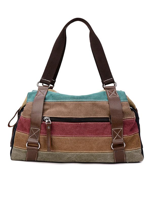 Color Patchwork Shoulder Bag