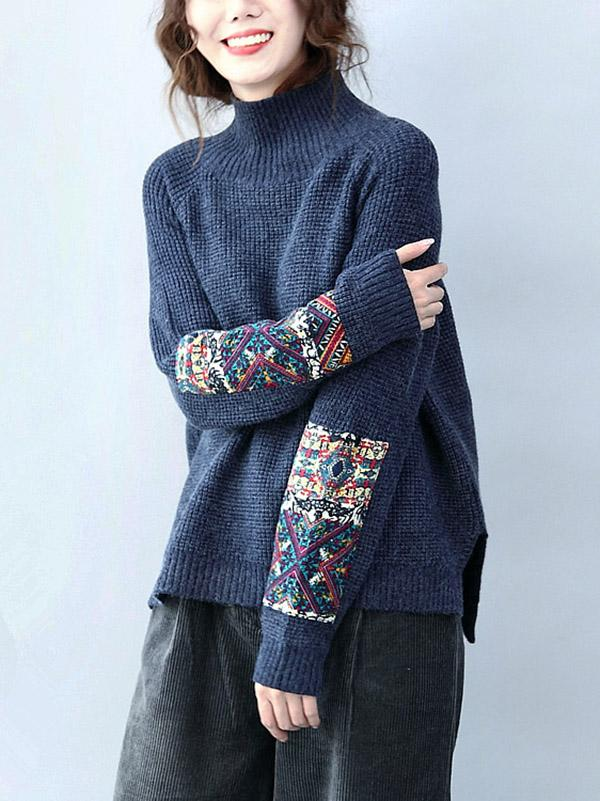 Comfortable Casual Embroidered Sweater