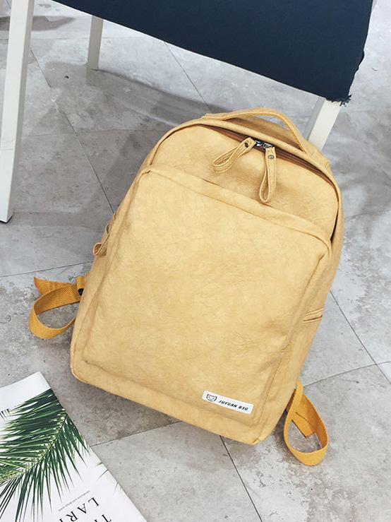 Solid Fashion Backpack Bag