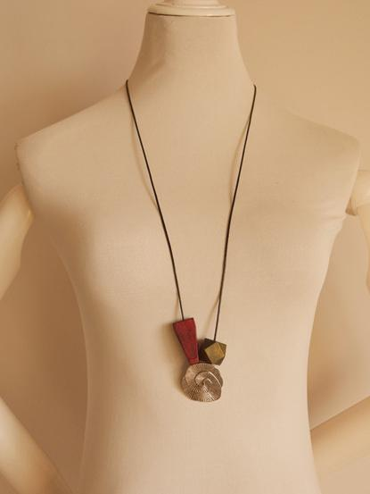 Vintage Irregular Wood Alloy Necklace