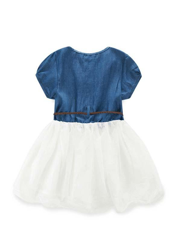 Denim and Lace Princess Kids' Dress