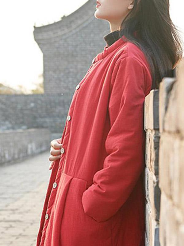 National Vintage Plus Size Warm Cotton Outwear