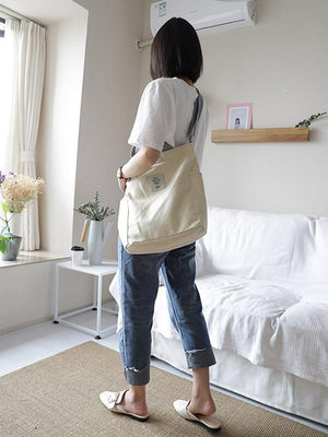 Simple Easy Matching Canvas Tote Bag