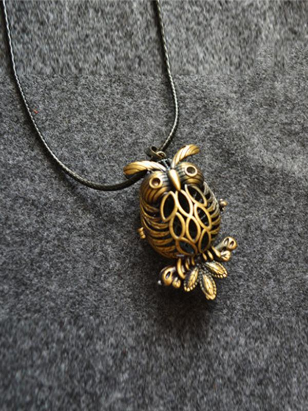 Hollow Cartoon Owl Necklace Accessories