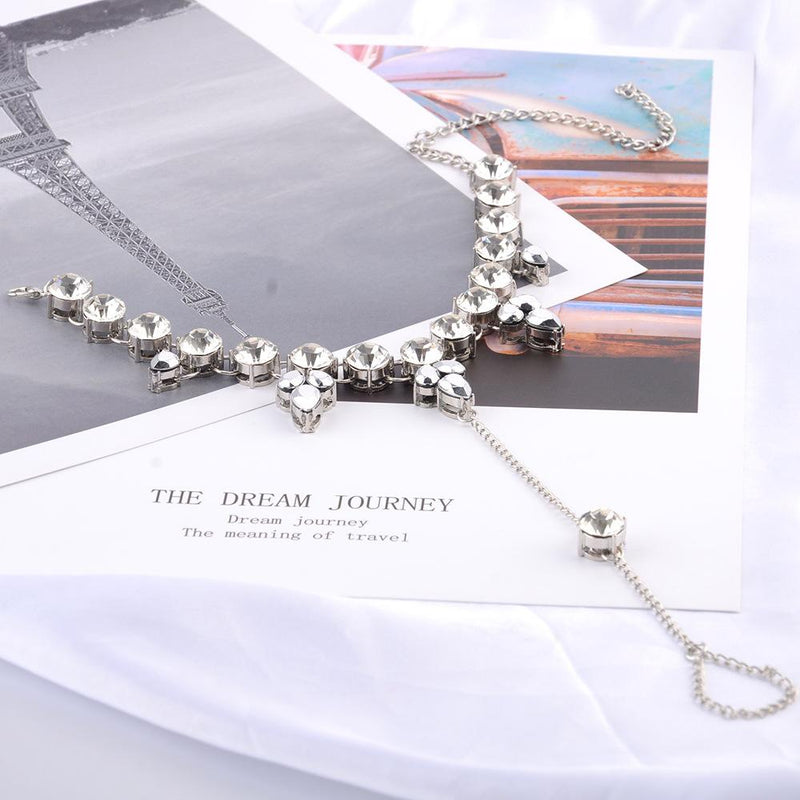 Bling Silver Drop Footchain Accessories