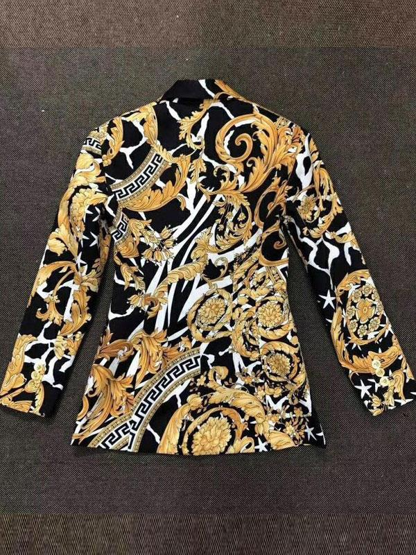 Blazer with Printed Long-sleeved Temperament