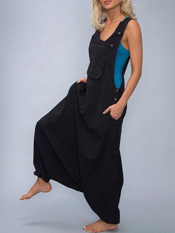 Irregular Harem Wide-leg Jumpsuit