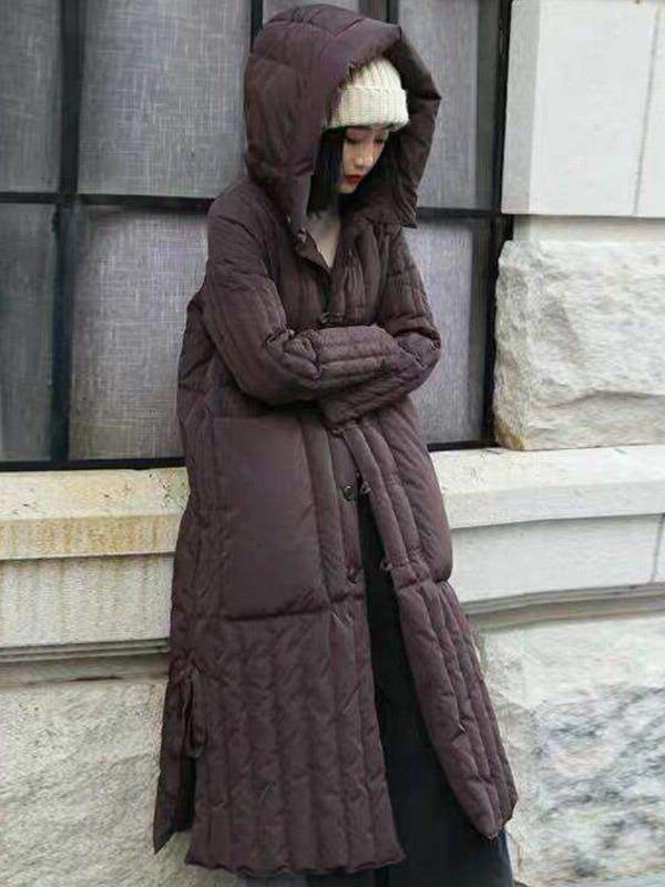 Down Coat Outwear with Solid Loose Plus Size