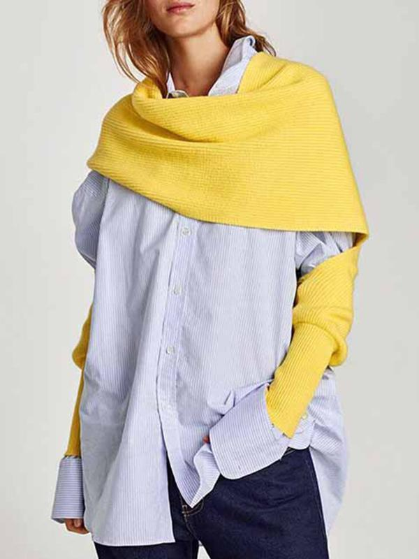 Fashion Multi-function Knitted Sleeves Scarf