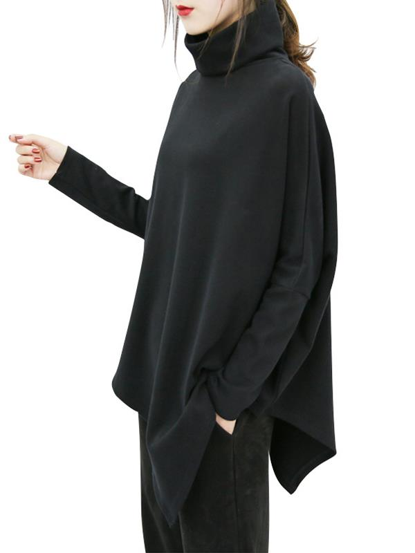 New Large Size Casual Long-sleeved Top