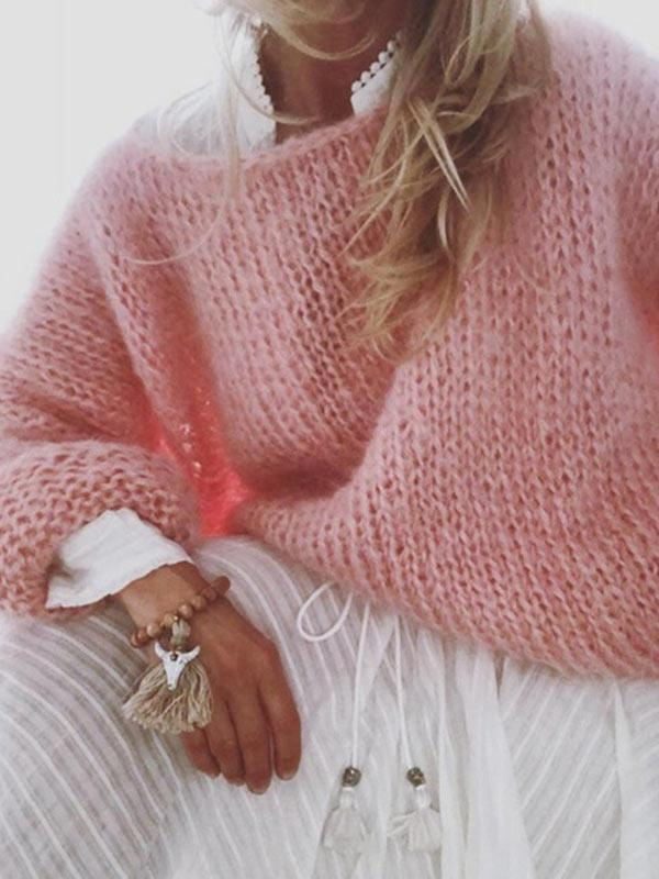 Warm Mohair Sweater Tops