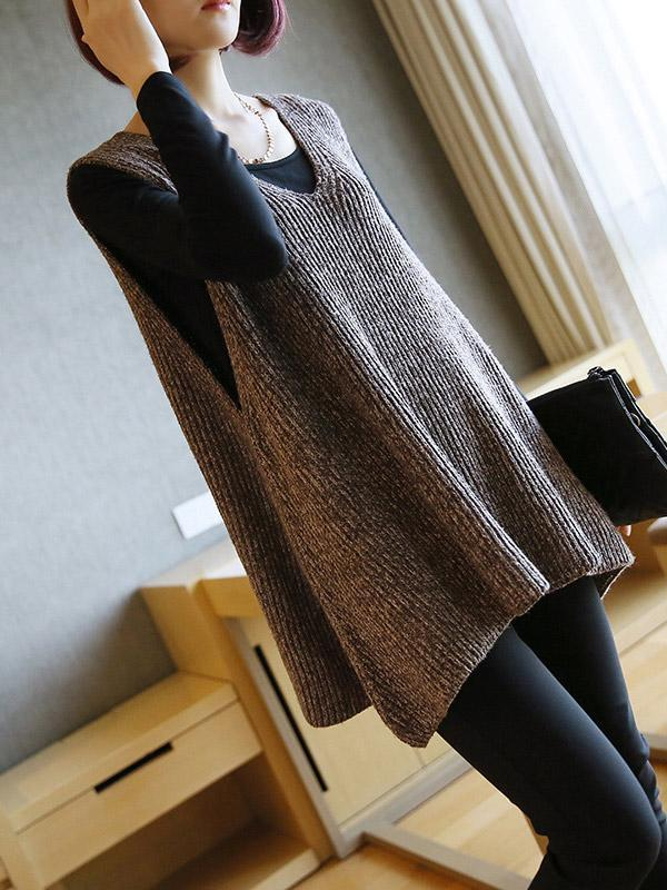 V-neck Pullover Sweater Knit Vest