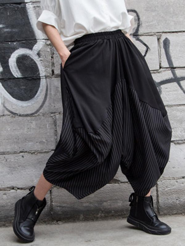 Oversized Wide-leg Crotch Pants