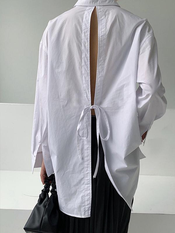 Loose Shirt With Split Back