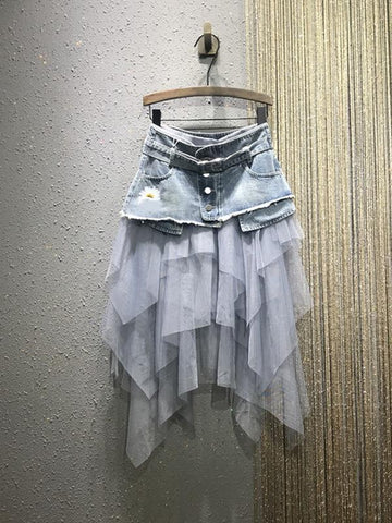 Solid Color Loose Strap Skirt