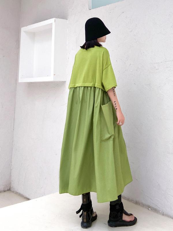 French Retro Solid Color Gentle Long Dress
