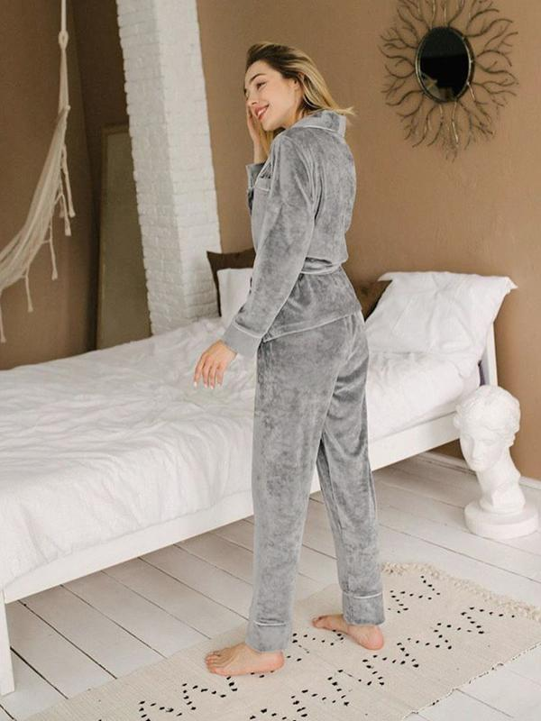 New autumn and winter knitted long-sleeved trousers home service