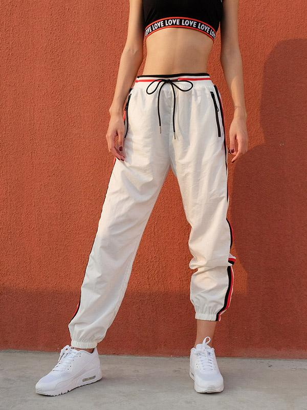 Stripes Strap Fashion Sports Pants