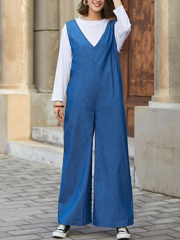 Japanese spring new open back bowtie Jumpsuit
