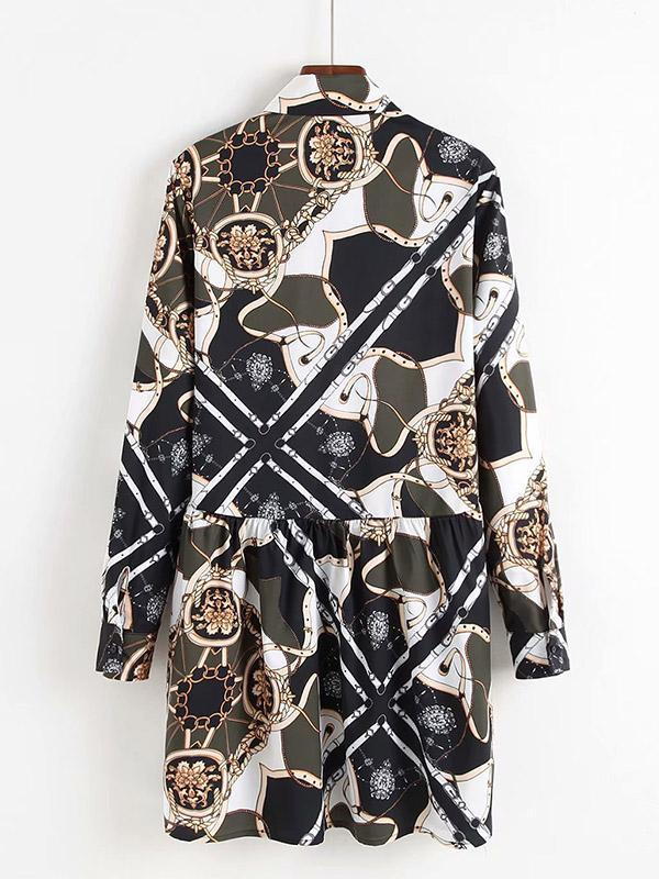 Women's Printed Shirt Dress