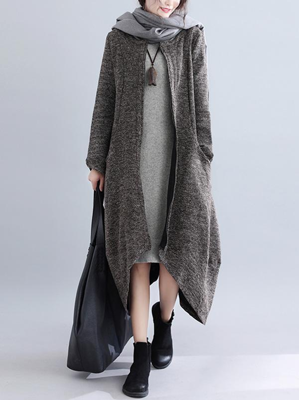 Loose Irregular A-line Long Outwear