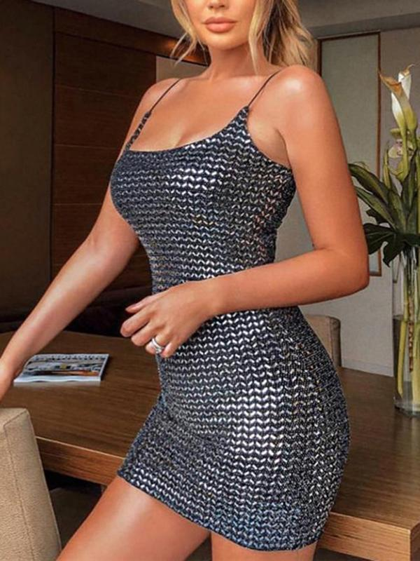 Fashion Black Bodycon Sexy Mini Dress
