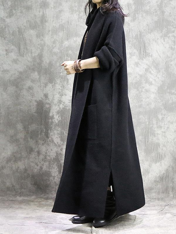 Outwears with Long Cardigan Knitting Solid