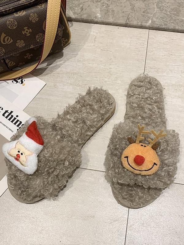 Xmas Plush Comfortable Home Slippers