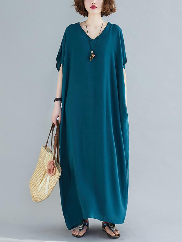 Plus Size Multi Colors Long Casual Dress