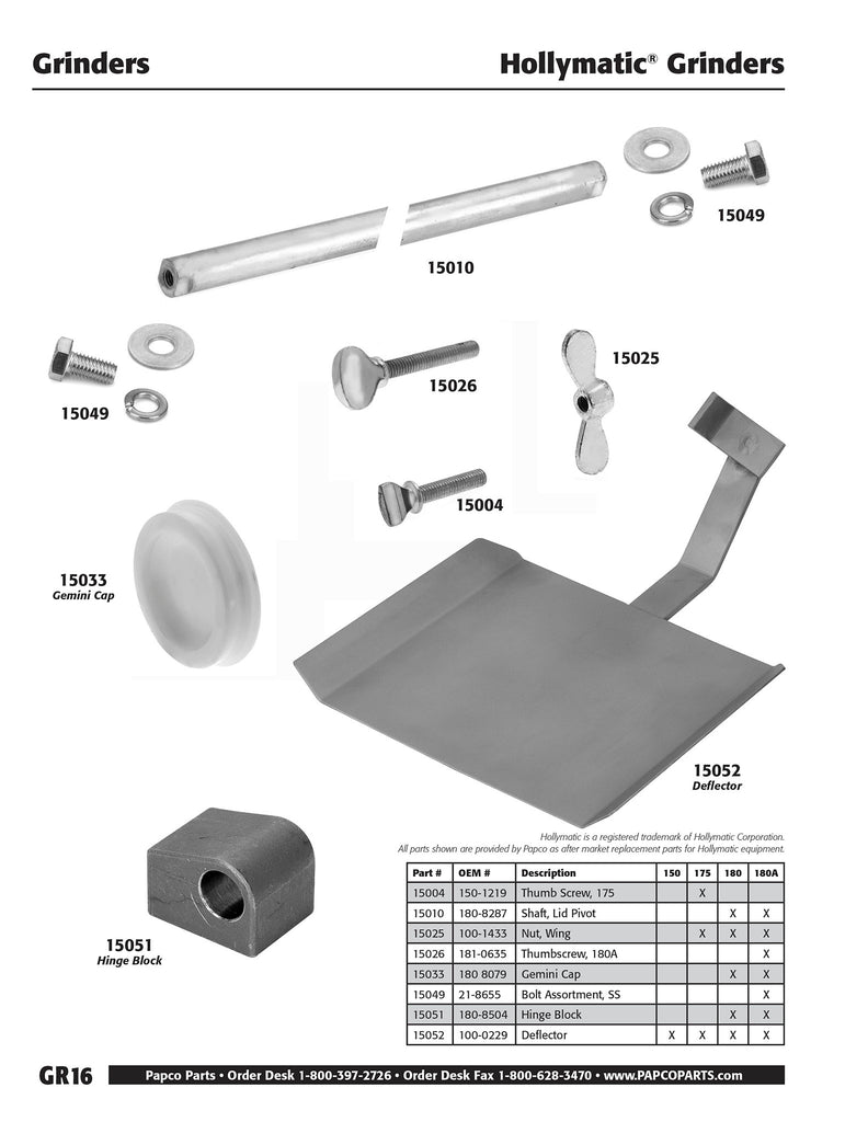 GR16 - Hollymatic Thumb Screws and Nut Wings