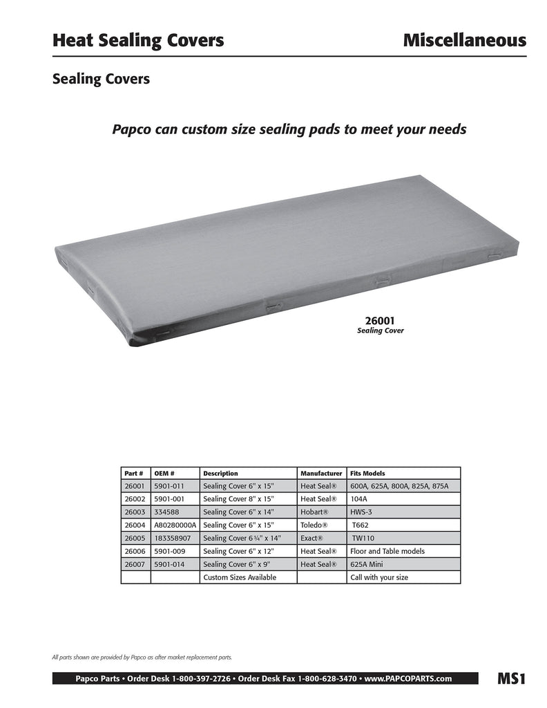 MS1 - Sealing Pad Covers