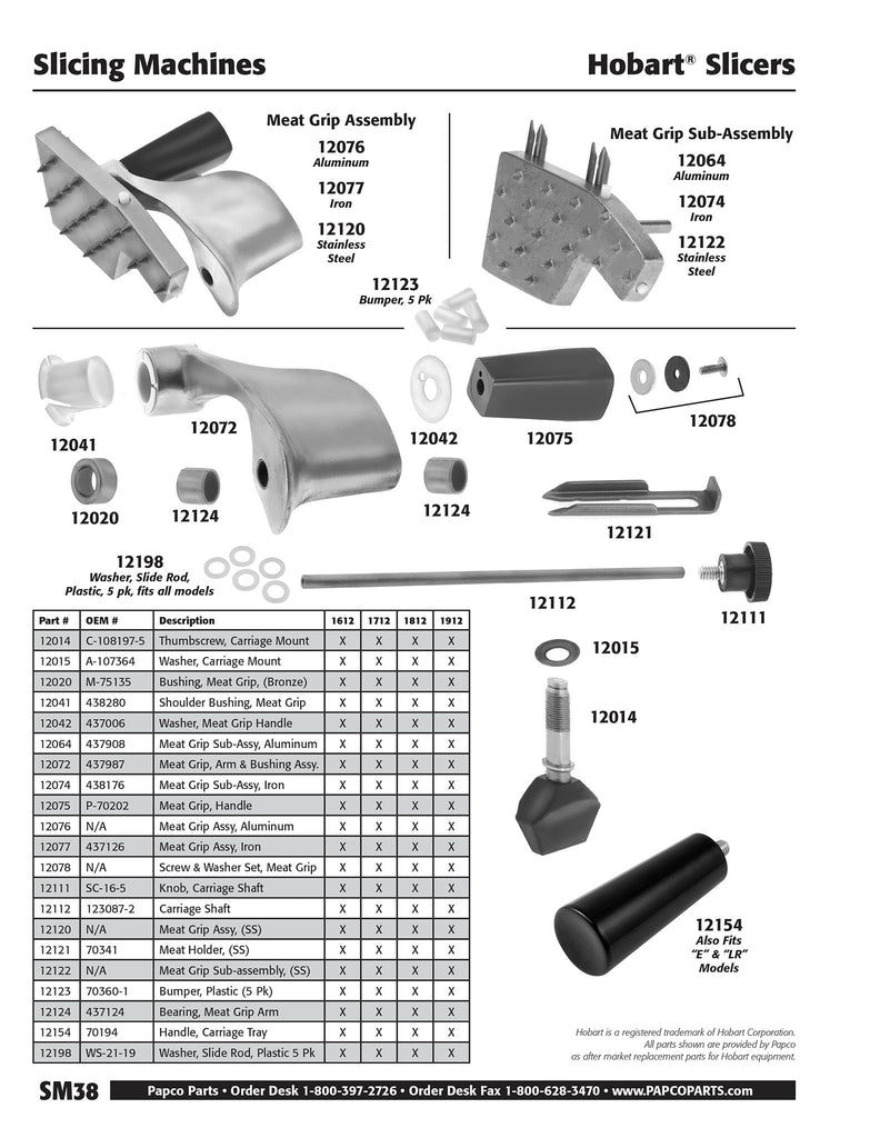 SM38 - Hobart Meat Grip Assembly