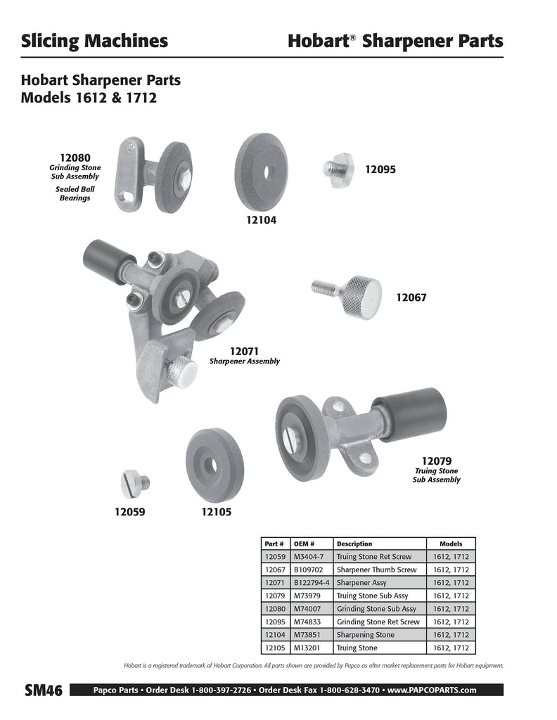 SM46 - Hobart Sharpener Parts