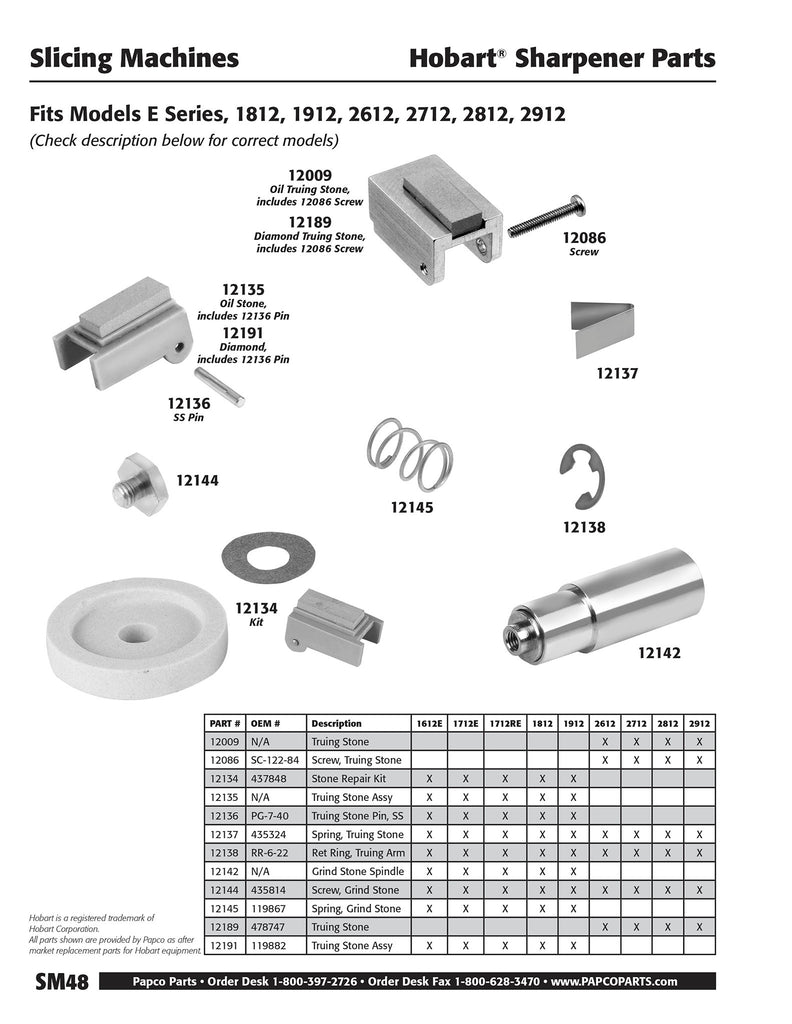 SM48 - Hobart Sharpener Parts