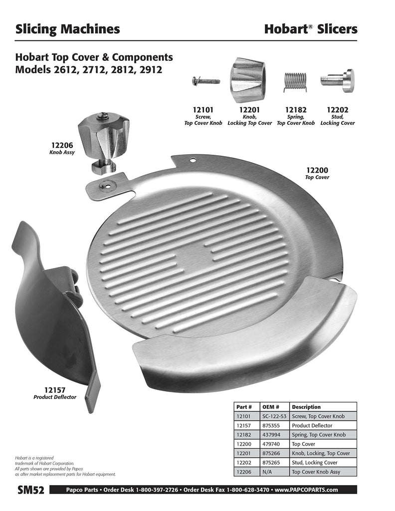 SM52 - Hobart Top Cover & Components