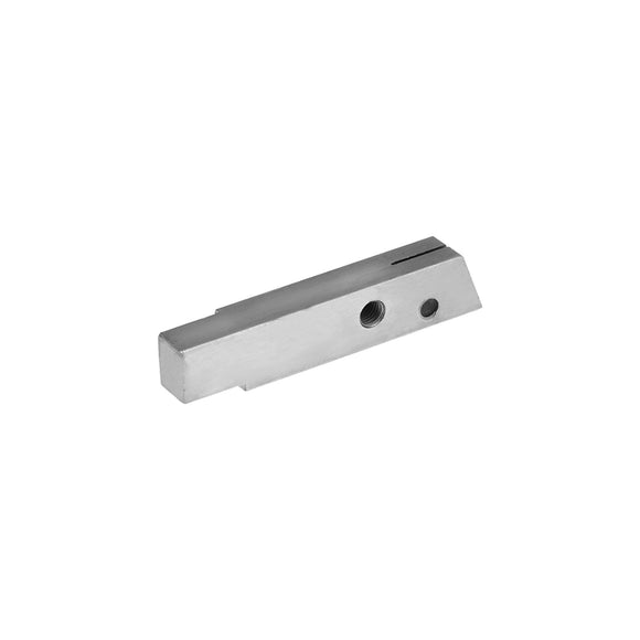 11004 - Saw Guide, Lower w/Plug Stainless Steel