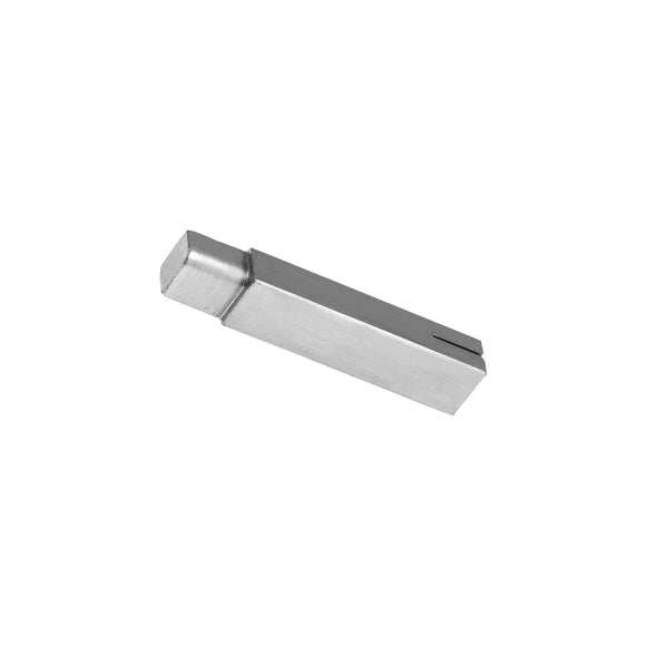 11032 - Saw Guide, Lower w/Plug Stainless Steel