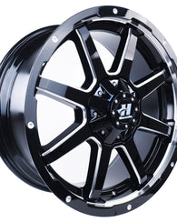 HUSSLA STEALTH 18X9 6X139.7 18 GLOSS BLACK MILLED SPOKES